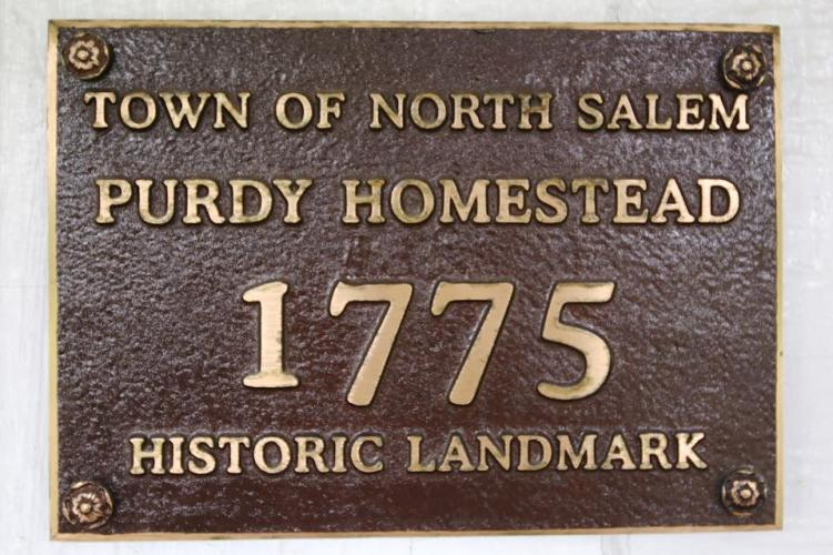 Purdy's Homestead historical record sign