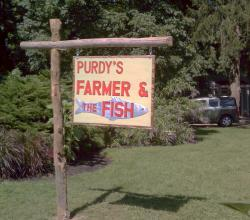 Purdy's Farmer and the Fish Sign