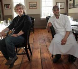 Owner Edward Taylor, left, is the fish and chef-owner Michael Kaphan is the farmer at their new restaurant Purdy's Farmer and the Fish in North Salem.